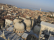 Dome Photo Posters - View of Venice Poster by Bernard Jaubert