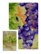 Malbec Paintings - Vineyard4 by TR ODell