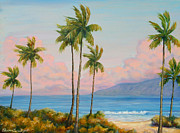 Bryant Painting Framed Prints - Vintage Kaanapali Framed Print by Christine Louise Bryant