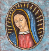 Virgen De  Guadalupe Art Framed Prints - Virgen de Guadalupe Framed Print by Rain Ririn