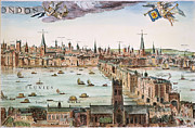 1616 Framed Prints - Visscher: London, 1616 Framed Print by Granger