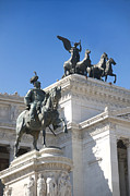 Bronze Sculpture Prints - Vittoriano. Monument to Victor Emmanuel II. Rome Print by Bernard Jaubert