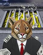 Wall Street Digital Art Prints - Wall Street Predator Print by Keith Dillon