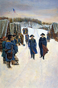 Rebellion Prints - Washington: Valley Forge Print by Granger