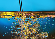 Drop Framed Prints - Water And Oil Framed Print by Setsiri Silapasuwanchai
