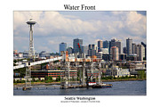 Space Needle Photographs Framed Prints - Water Front Framed Print by William Jones
