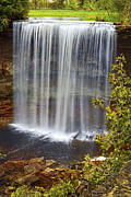 Beautiful Creek Metal Prints - Waterfall Metal Print by Elena Elisseeva
