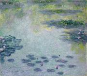 Reflecting Water Painting Metal Prints - Waterlilies Metal Print by Claude Monet