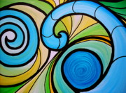 Surfing Paintings - Waves by Pristine Cartera Turkus
