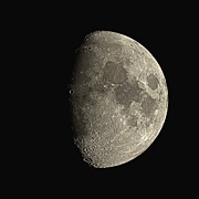 Waxing Prints - Waxing Gibbous Moon Print by Eckhard Slawik