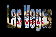 Las Vegas Sign Prints - Welcome to... Print by Jon Berghoff