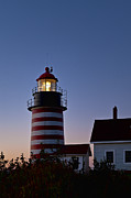 Maine Lighthouses Photo Posters - West Quoddy Head Lighthouse Poster by John Greim