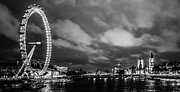 London Skyline Art - Westminster and the London Eye by Dawn OConnor