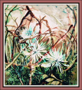 Blessing Framed Prints - White Mums Framed Print by Mindy Newman