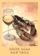 Wine Art - White wine and tails... by Will Bullas