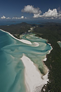 Heart Reef Framed Prints - Whitehaven Beach Framed Print by Juergen Freund