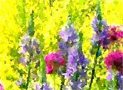 Yellow Paintings - Wild Flowers by Navo Art