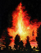 Wildfire Paintings - Wildfire by Gwen Ontiveros