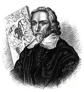 Historical Physician Framed Prints - William Harvey, English Physician Framed Print by Science Source