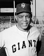 League Framed Prints - Willie Mays (1931- ) Framed Print by Granger