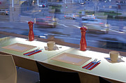 Cookbook Prints - Window Seating in an Upscale Cafe Print by Jaak Nilson