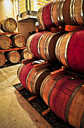 Rows Prints - Wine barrels Print by Elena Elisseeva