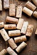Wine Making Prints - Wine corks Print by Kati Molin