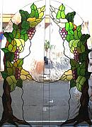Grapes Glass Art - Winogrona by Justyna Pastuszka