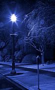 Winter Sidewalk Blues Print by John Stephens