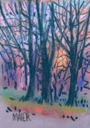 Winter Solstice Prints - Winter Sunset Print by Donald Maier