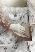 Glove Prints - Woman With A Book Print by Joana Kruse