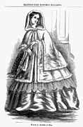 Ball Gown Metal Prints - WOMENS FASHION. c1850s Metal Print by Granger