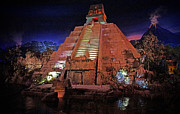 Volcano Pyrography Prints - World Showcase - Mexico Pavillion Print by AK Photography