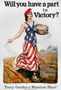 Victory Framed Prints - World War I: U.s. Poster Framed Print by Granger