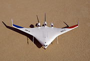 Aeronautics Prints - X-48b Blended Wing Body Unmanned Aerial Print by Stocktrek Images