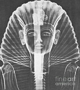 Egyptian Art Prints - X-ray Of An Egyptian Mask Print by Photo Researchers