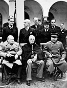 Churchill Prints - Yalta Conference, 1945 Print by Granger