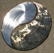 Steel Sculptures - Yin Yang by Rick Roth