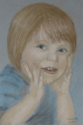 Face Pastels Prints - Young Boy Print by Masami Iida