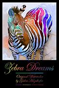 Creative Painting Metal Prints - Zebra Dreams Metal Print by Galen Hazelhofer