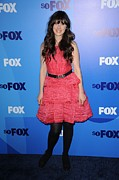Tiered Dress Posters - Zooey Deschanel At Arrivals For Fox Poster by Everett