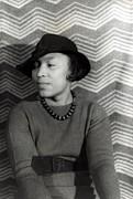 Belted Sweater Framed Prints - Zora Neale Hurston 1891-1960, African Framed Print by Everett
