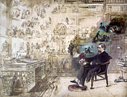 Office Photos - Charles Dickens (1812-1870) by Granger