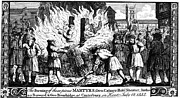 Martyr Metal Prints - Foxe: Book Of Martyrs Metal Print by Granger