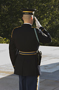 Changing Of The Guard Framed Prints - Honor Guard At The Tomb Framed Print by Terry Moore