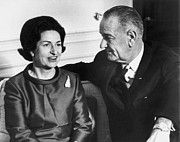First Lady Metal Prints - Lyndon Baines Johnson Metal Print by Granger