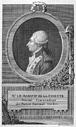 French Revolution Prints - MARQUIS de LAFAYETTE Print by Granger