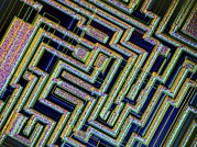 Microchip, Light Micrograph Print by Pasieka