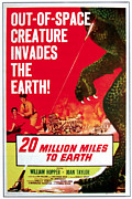 1950s Poster Art Framed Prints - 20 Million Miles To Earth, Poster Art Framed Print by Everett