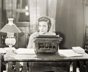 Typewriter Photos - Silent Film Still: Offices by Granger